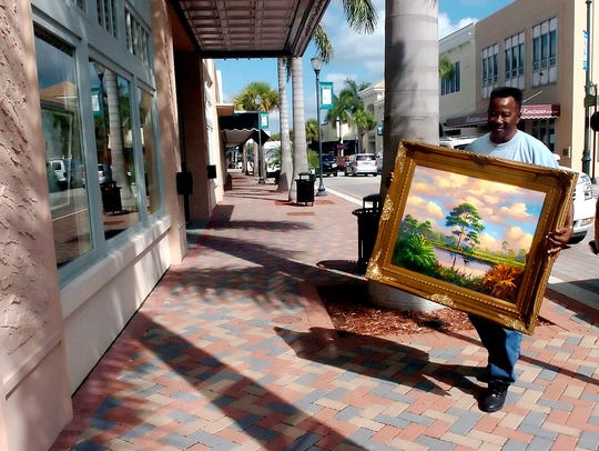 Fort Pierce Highwaymen Artist James Gibson brings one