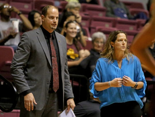 Midwestern State assistant coach Christopher Reay,