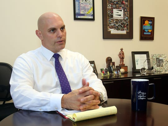 Marc Baiocco is the new Elmsford school superintendent, he is photographed in the district office in Elmsford Aug. 1, 2017.