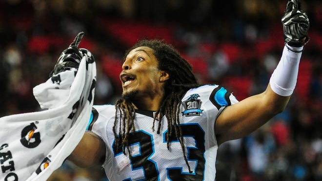 When the Carolina Panthers Tre Boston returned an interception for a TD against Atlanta on Sunday, he had more than just a pick six to celebrate.