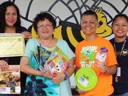 Sylvan donated over 1,000 books to Guam's public elementary