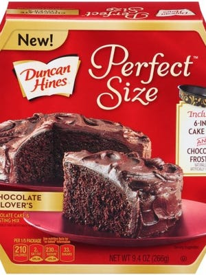 Duncan Hines Perfect Size cake