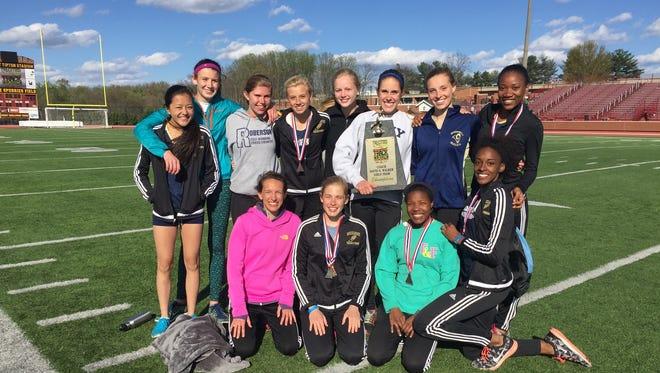 The Roberson girls won Saturday's Tri-Cities Track Classic in Johnson City, Tenn.