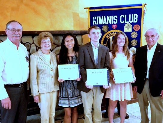 The Horseheads Kiwanis Club recently handed out scholarships
