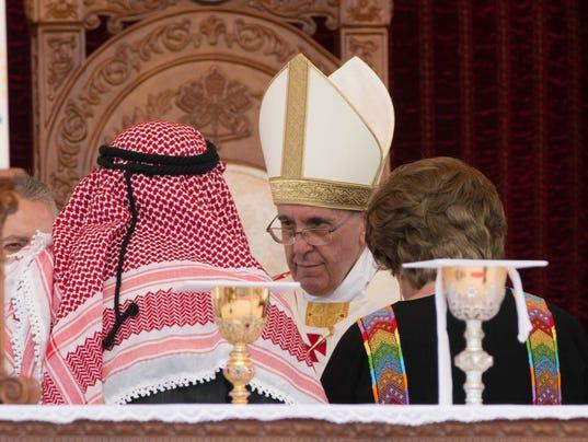 AP Mideast Jordan Pope