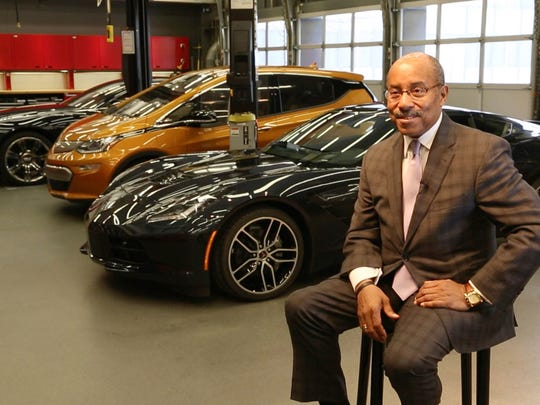 General Motors Vice President of Global Design Ed Welburn in the mechanical assembly area at the design center in Warren in February 2016.
