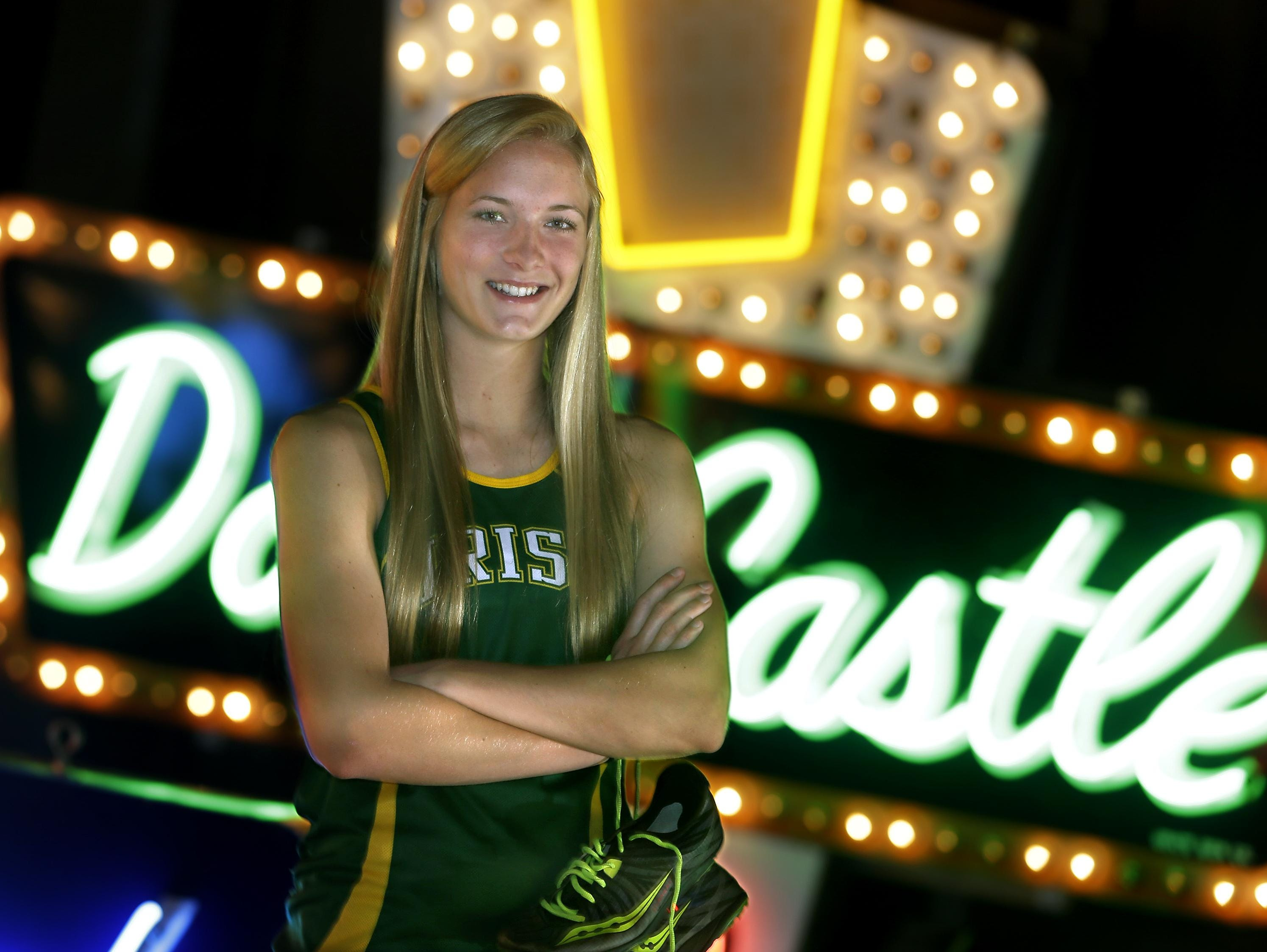 Post-Crescent Media's girls' track athlete of the year is Freedom High School's Lauren Peters. The photo was taken at the History Museum at the Castle in Appleton.