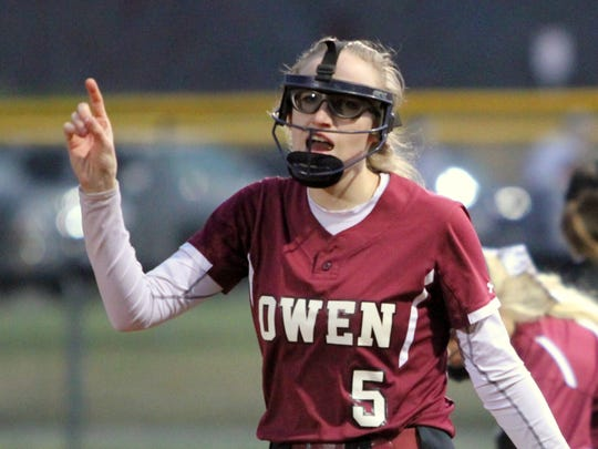 Senior Bria Crompton drove in two RBIs in its win over Erwin on March 7, helping the Warlassies improve to 3-0.