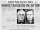 1941: Roosevelt inaugurated for third term.