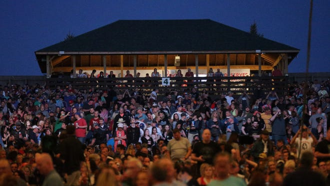 A sold-out crowed awaits a Tom Petty and the Heartbreakers concert at Klipsch Music Center, on May 13, 2017. Heavy rains and flooding canceled a Nickelback concert there on Friday, June 23.