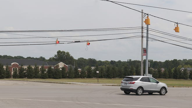 Sheetz would like to build a gas station on the 3.4-acre vacant property in front of Brimfield Elementary School, the building in brick, but some community members do not feel it's an appropriate use of the land.