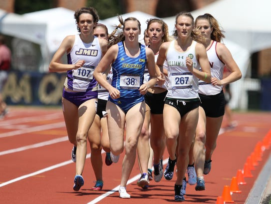 Delaware senior Liz McGoarty leads the pack at the