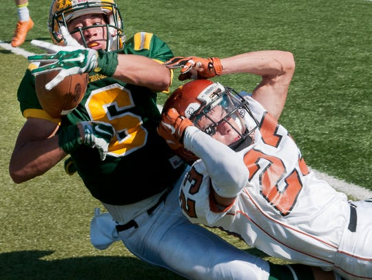 Mayfield's Isaac Vance goes to the ground to try and