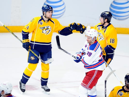 NHL: New York Rangers at Nashville Predators