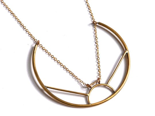 Necklace by Marisa Krol in her signature geometric