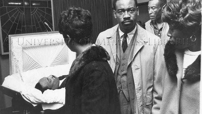 Mourners pay their respects to Dr. Martin Luther King Jr. in Atlanta in 1968.