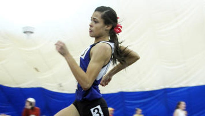 Union Catholic's Sydney McLaughlin made her season debut at the Union County Tournament on Saturday. The Vikings won their third-straight title.
