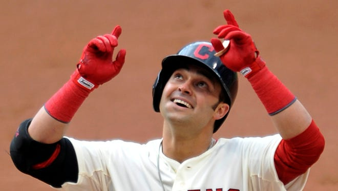 Nick Swisher led the Indians with 22 home runs last season.