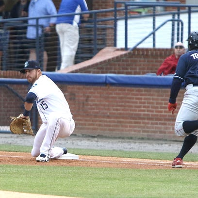 Brendan Rodgers is leading the Asheville Tourists in home runs.