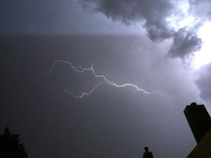Coloradoan reporter Jason Pohl captured this lightning late Tuesday night.
