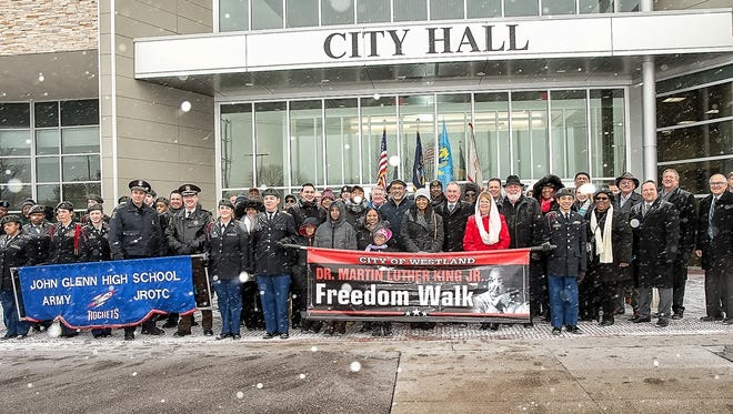 The weather wasn't a deterrent for the annual Martin Luther King, Jr. Freedom Walk in Westland.