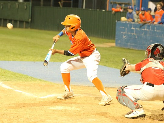 San Angelo Central High School's Blake Mikeska lays