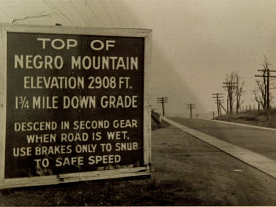 Top of Negro Mountain along US 40, 1938.