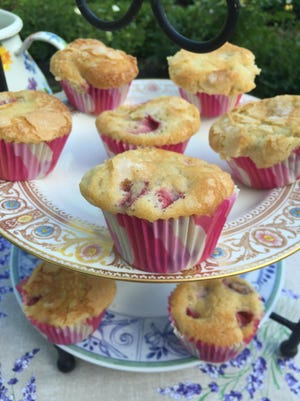 gatherings17 - Strawberry Muffins for tea in the garden. Photo by Amy DeWall Dadmun