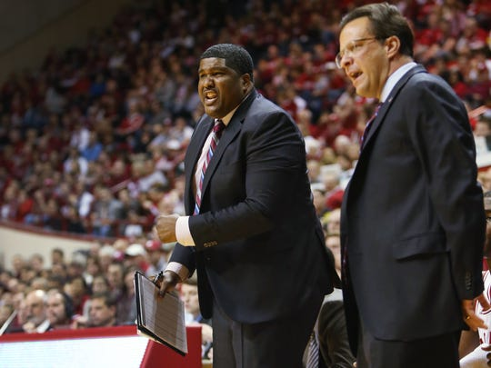 Kenny Johnson was the assistant coach and recruiting coordinator for the Indiana Hoosiers men's basketball team. He worked the bench alongside head coach Tom Crean during games. The Indiana Hoosiers hosted the Chicago State Cougars at Assembly Hall Friday, November 8, 2013.