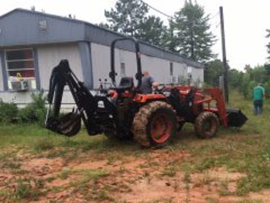 Farm equipment reported stolen was found at a west