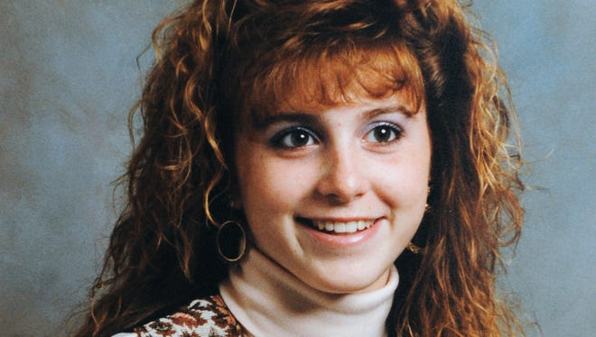 A copy of a photograph of Amy Weidner, 16 at the time, who was strangled at her home in 1989.