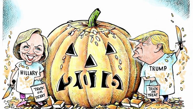 Election 2016 trick or treat