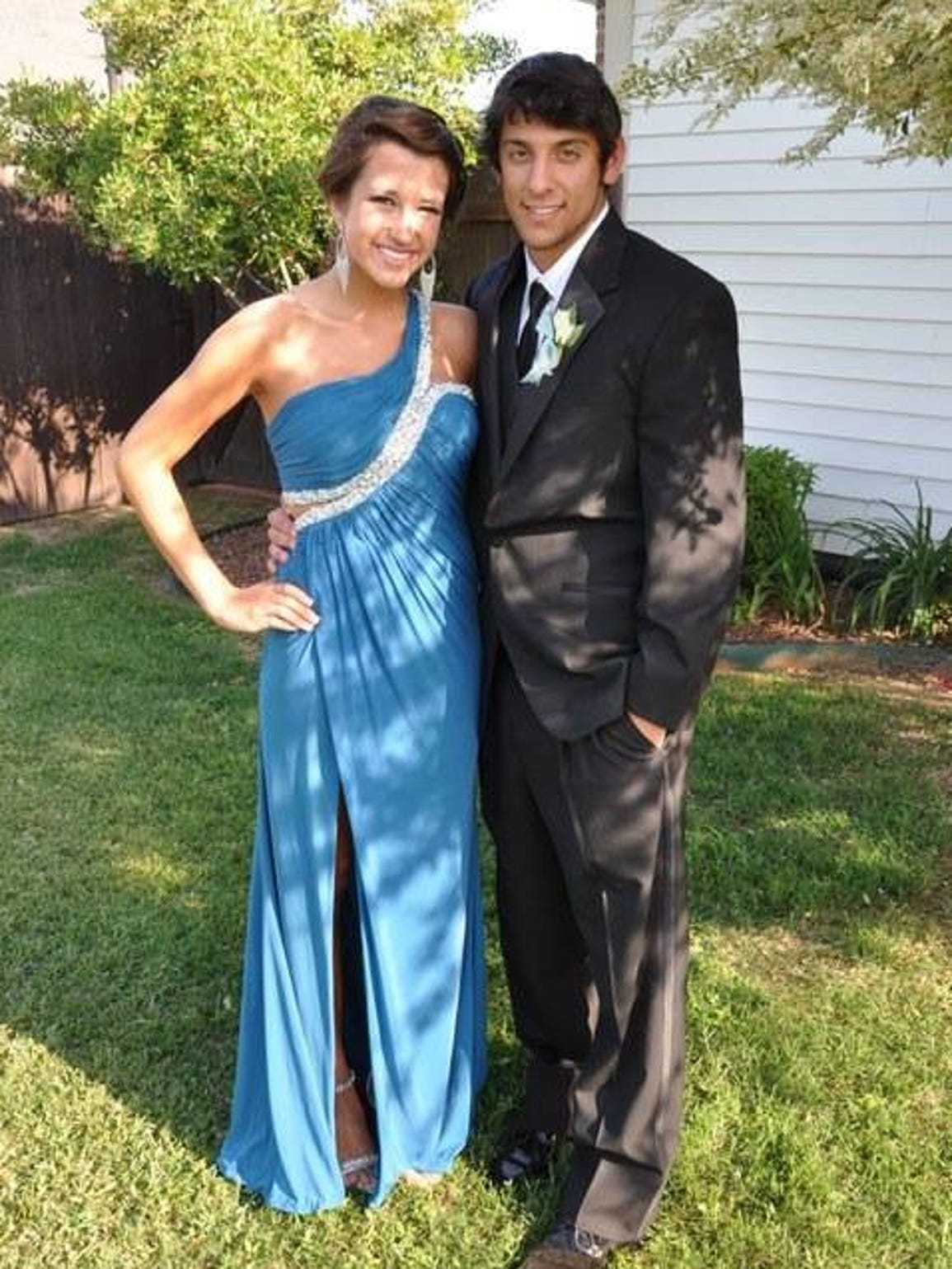 Christian and his prom date, Danielle.