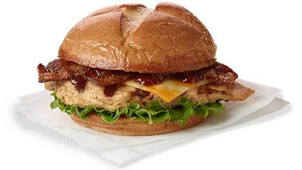 The Smokehouse BBQ Bacon Sandwich is a menu item being tested at Chick-fil-A restaurants in Southwest Florida.