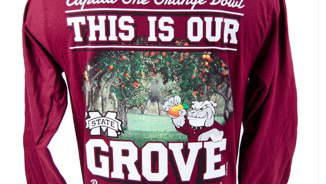"""This is our Grove"" shirts are being created for the Orange Bowl which contain an error."