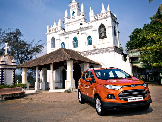 Ford EcoSport, Goa, India in 2013.