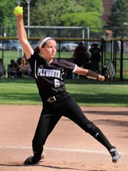 Delivering a pitch during Saturday's D1 regional final