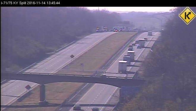 A fatal vehicle crash on northbound I-71.