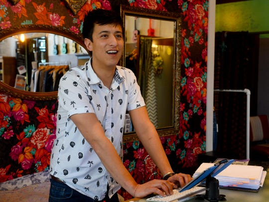 Mikey Winn works at Harlow boutique in downtown Whitefish.