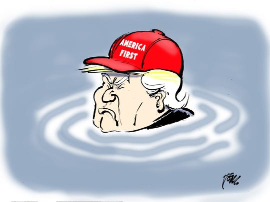 Trump closing eyes to climate change.