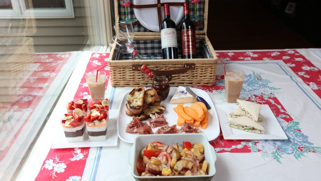 Chef Ninamarie Bojekian prepared these sample picnic foods from her Franklin Lakes kitchen. Thursday July 11, 2013.