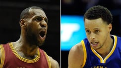 LeBron James and Stephen Curry are the two most popular,
