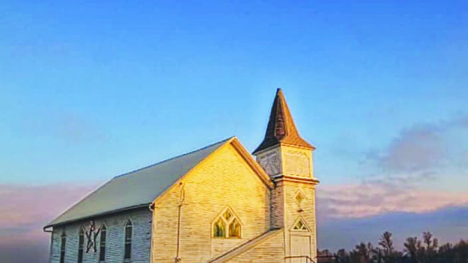 Built in the 1800s, this little church at the edge of Wellsford, Kansas stands alone on the prairie, still open for a small congregation of three that meets every Sunday. The town of Wellsford, only three blocks long, was disincorporated in 1965, but the surviving church is a testament to the fortitude of those who settled and remain living in rural Kiowa County.