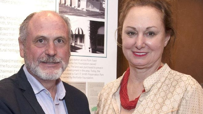 Husband-and-wife architects Richard Sammons and Anne Fairfax of Palm Beach, seen here in November, have spent the last few weeks dealing with a coronavirus scare after a trip to New York City in early March.