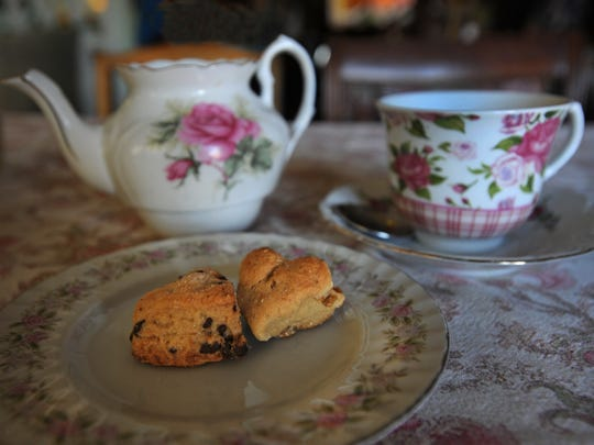 Scones and tea at the Glenwood Tea Room-Tea Shoppe and Gift House.