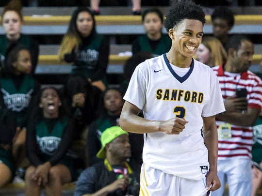 Sanford's Mikey Dixon was named DSBA Boys Player of the Year and heads the All-State first team.