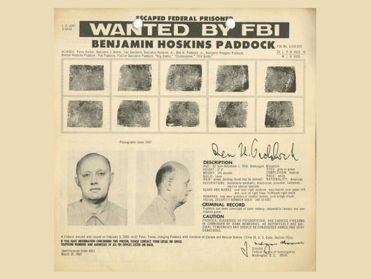 Las Vegas shooting: Shooter's father on FBI's most wanted list in 1968
