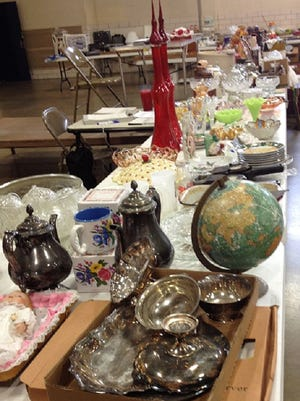 Some of the items for sale at the Richmond Lions Club annual fall auction fundraiser at the National Guard Armory.
