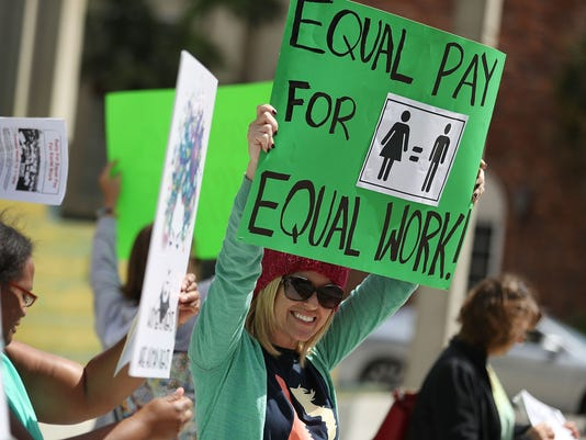 Rally To Support Equal Pay For Equal Work