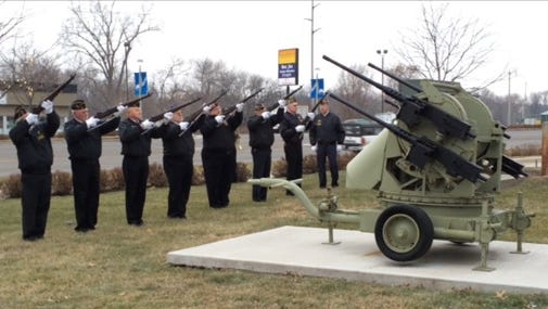 Veterans and members of the American Legion and Sons of the American Legion gathered with their families at the Walter Johnson American Legion Post 721 in Coralville for a color guard memorial service to recognize Pearl Harbor day on Sunday, Dec. 7.